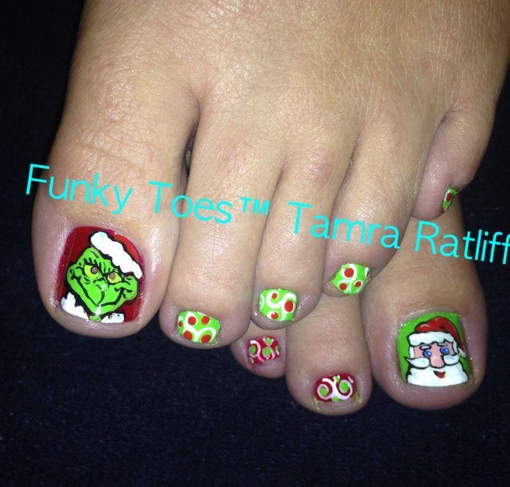 Grinch Nail Art Google Search Christmas Nails Pinterest