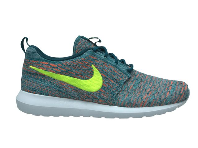 the latest 8f878 806cf Nike Flyknit Roshe run Light Blue Orange Roshe Run Femme Blanche