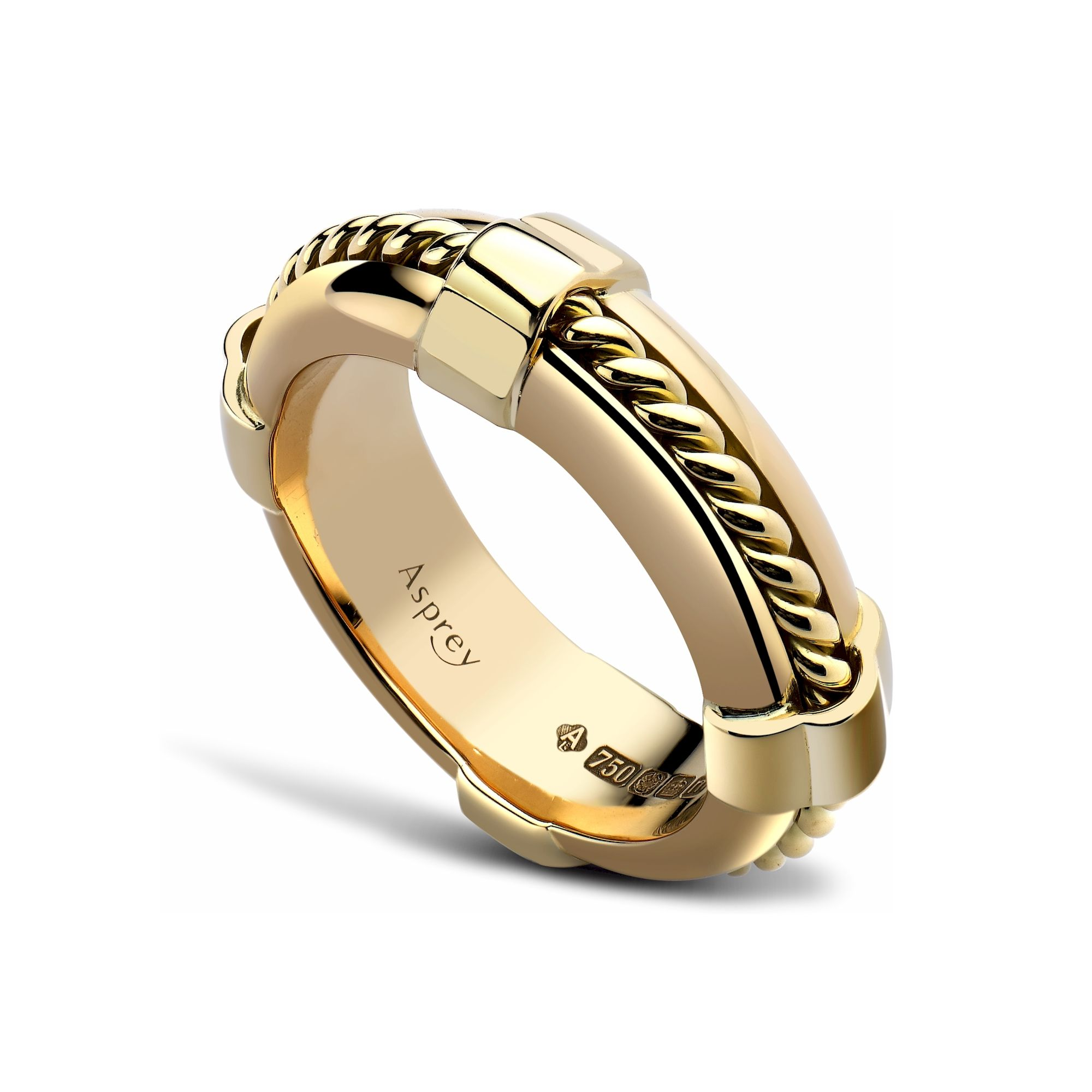 La s Life Ring Yellow Gold Rope & Yellow Gold Ring