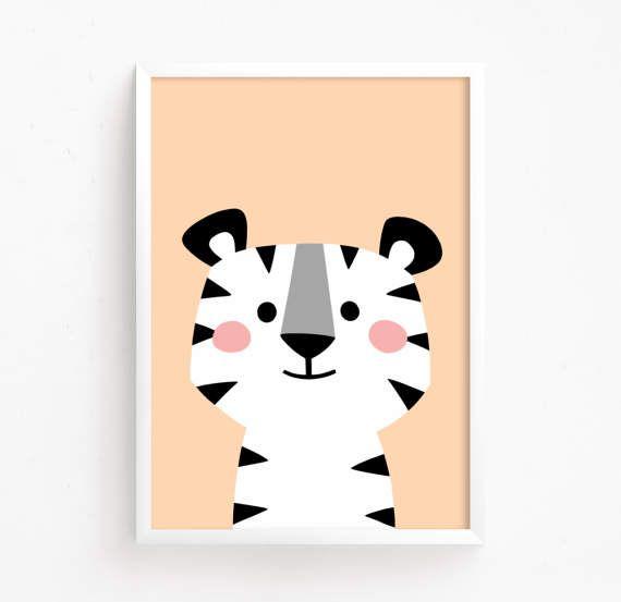 Sale 50 Off Baby Tiger Kitty Poster Printable Nursery Etsy Nursery Wall Art Printable Etsy Printable Art Nursery Art Set