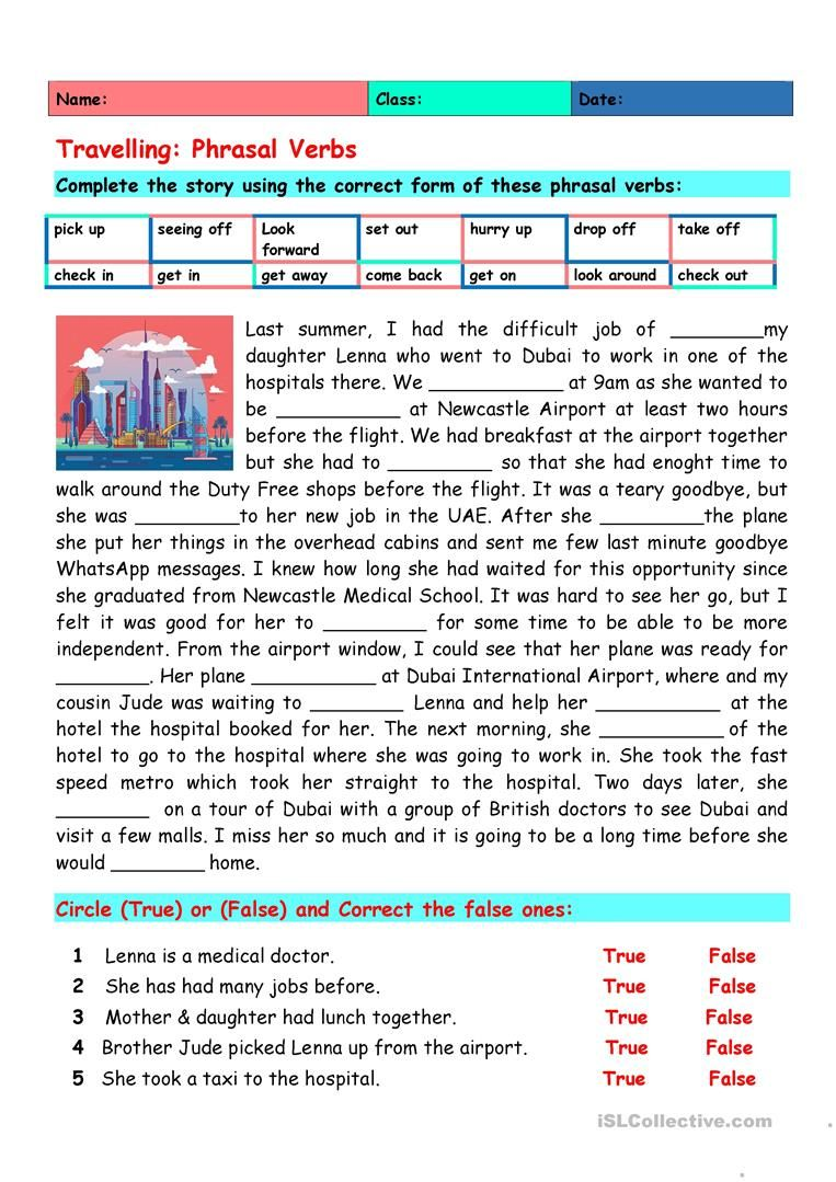 Travelling Phrasal Verbs English Esl Worksheets For Distance Learning And Physical Classro In 2021 Teaching English Grammar Teaching English English Speaking Skills [ 1079 x 763 Pixel ]