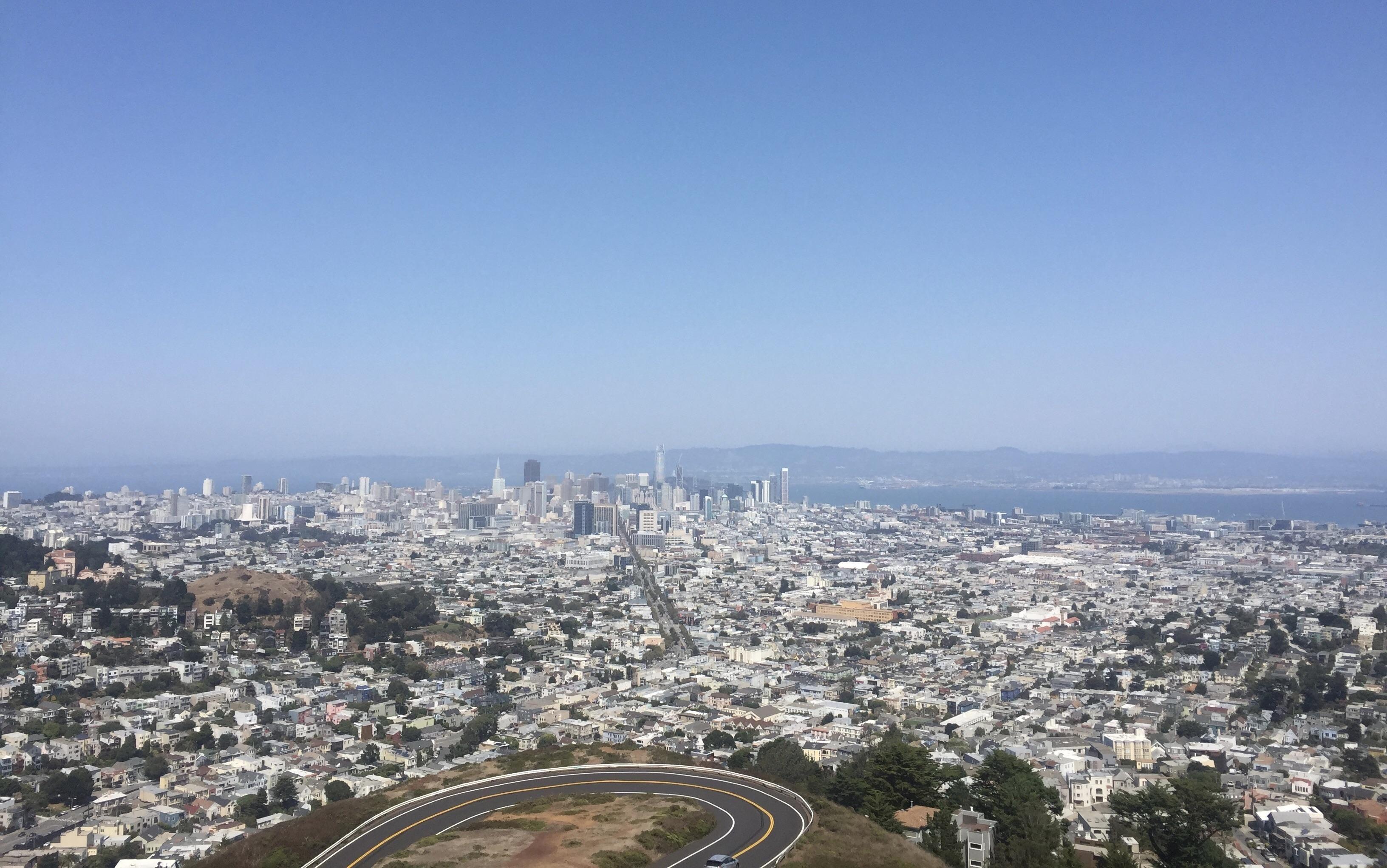 View From Twin Peaks Twin Peaks San Francisco Skyline San