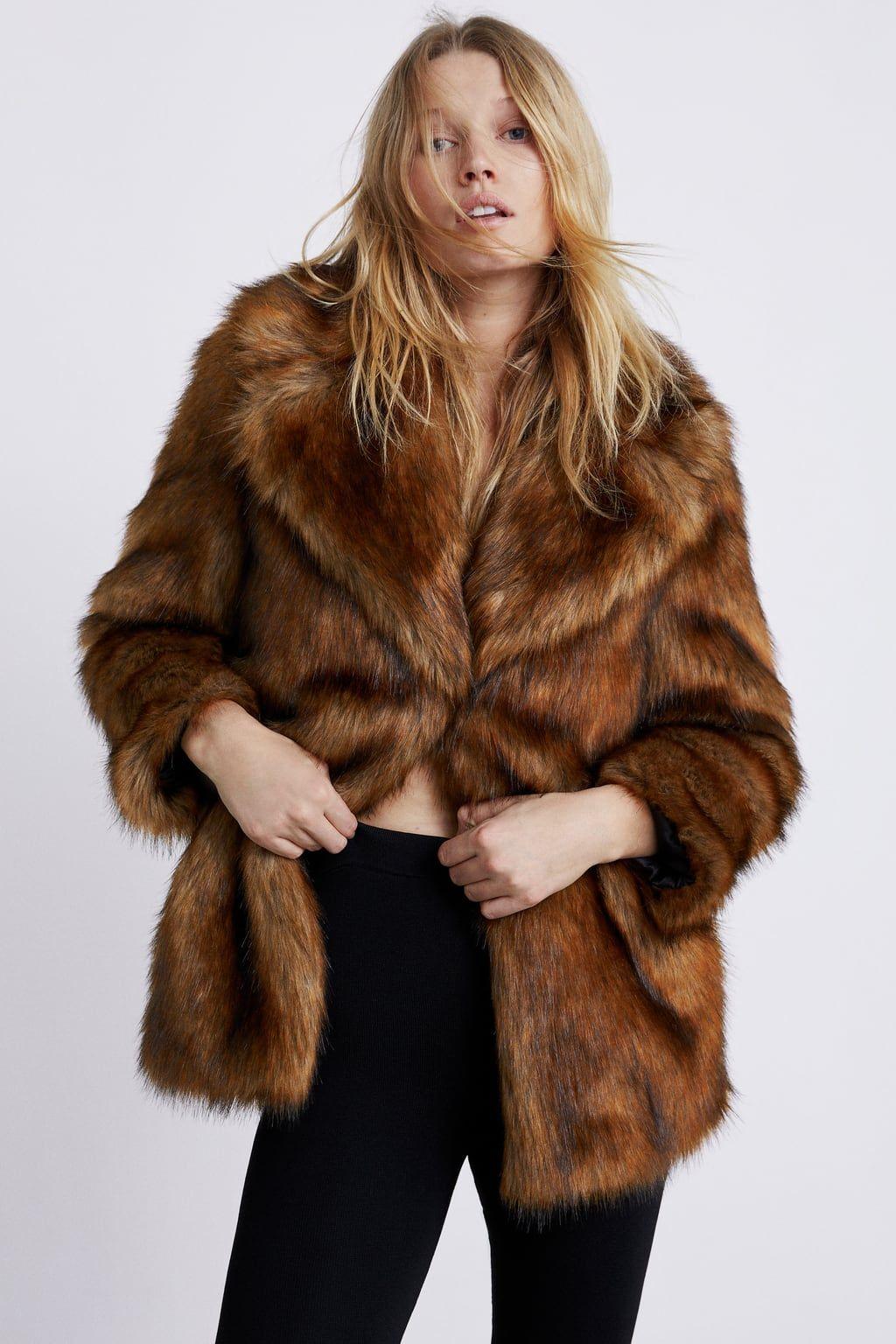b3a2803f Faux fur coat | Fashion | Fur coat outfit, Fur Coat, Zara ...