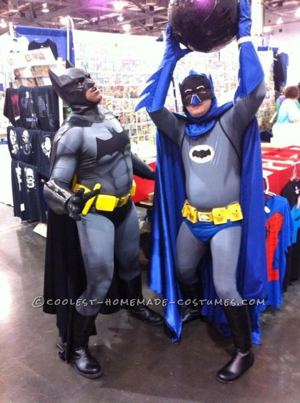Cool DIY Adam West Style Batman Costume with Bomb ...