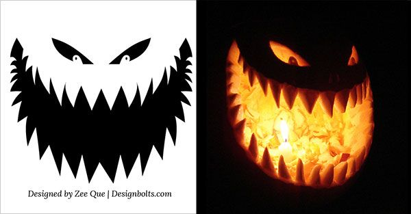 10 free scary halloween pumpkin carving patterns stencils ideas rh pinterest com scary pumpkin carving patterns printable scary pumpkin carving ideas