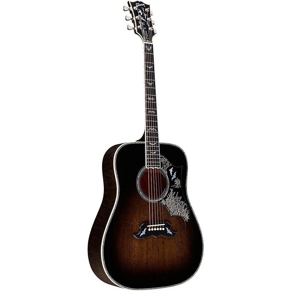 Gibson Bats In Flight Dreadnought Acoustic Guitar Snakebite Gibson Guitars Guitar Best Acoustic Guitar
