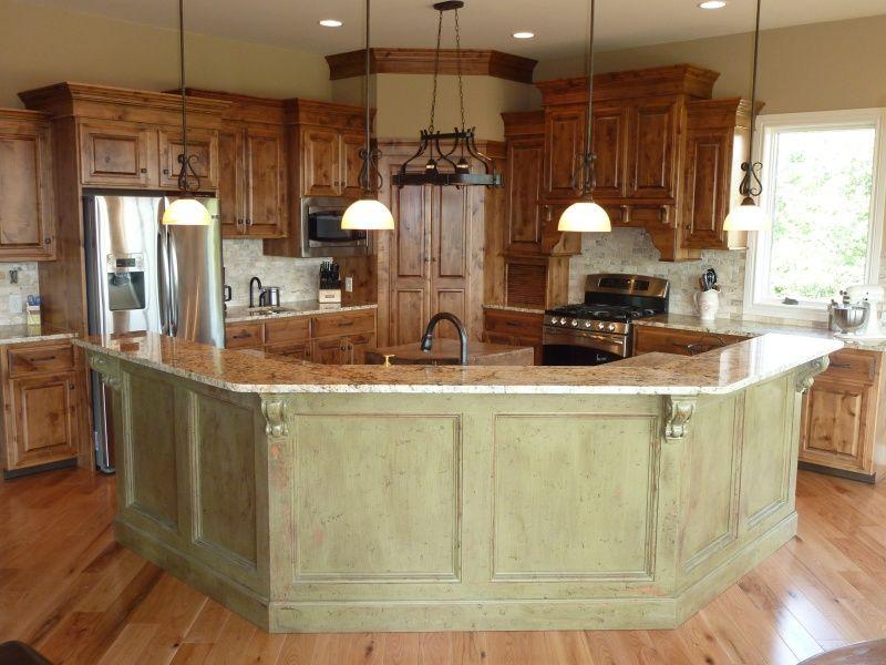 Rustic Open Kitchen Islands Kitchen Layout Kitchen Design Open Kitchen Layouts With Island