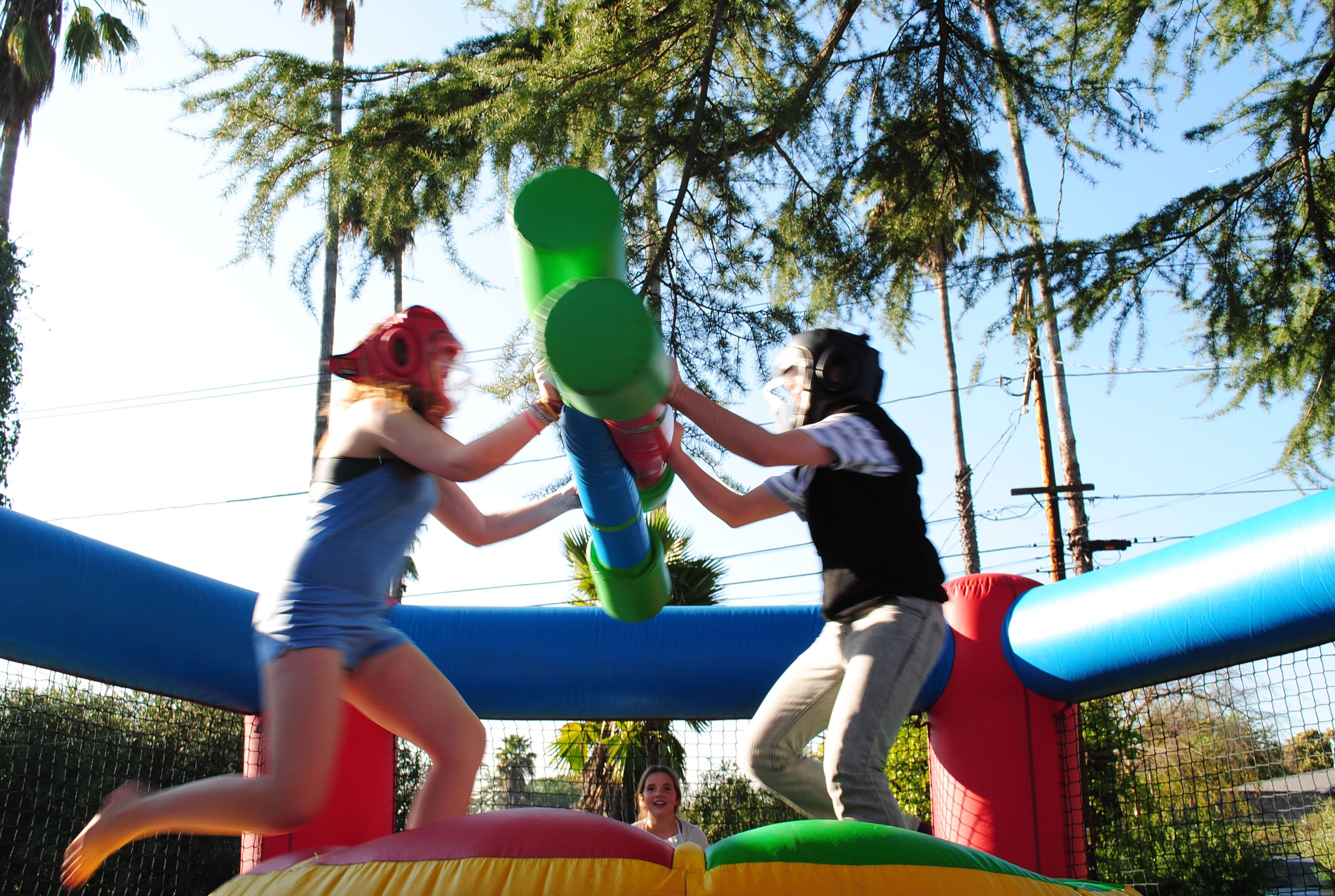 Joust Arena, inflatable jousting game, a great competitive