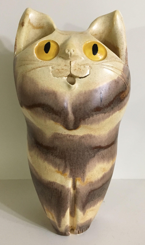 Tall Schaer Cat Pottery, Sculpture, Cats