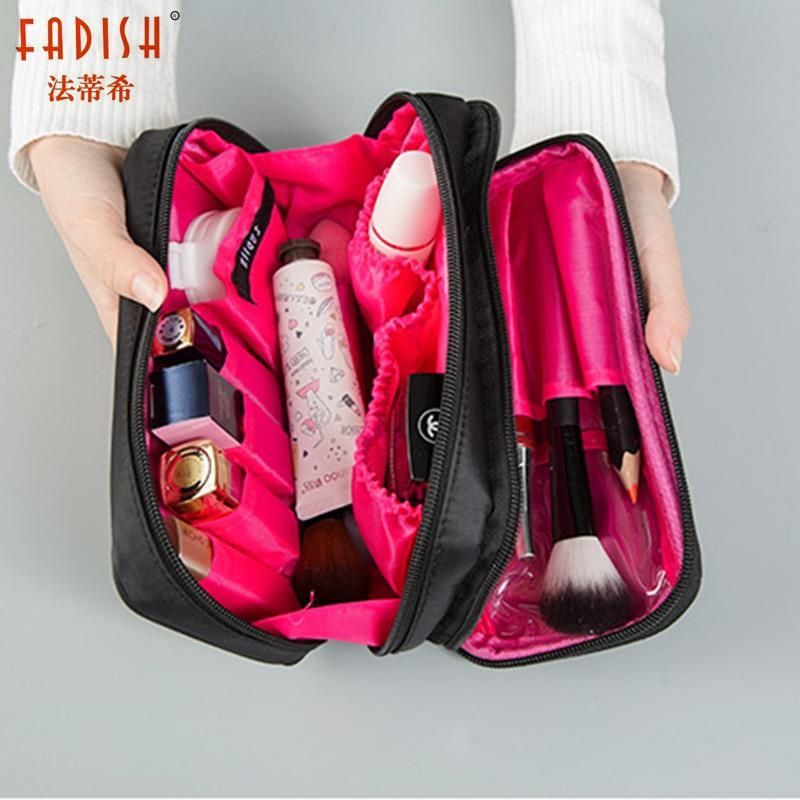 c266817c0461 Fadish Cosmetic Bags Makeup Bag Women Travel Organizer Professional Storage  Brush Necessaries Make Up Case Beauty Toiletry Bag. Yesterday s price  US   7.06 ...