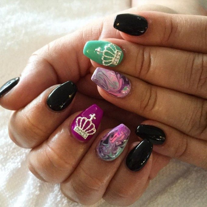 Acrylic Crown Nail Designs Trends - Acrylic Crown Nail Designs Trends Acrylic Nail Trends 2019