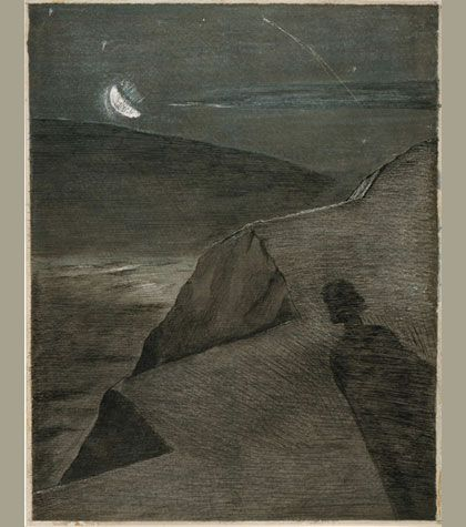 Paul Nash (1889-1946) – The Cliff to the North (1912-13) pen, indian Ink and grey wash on paper © The Fitzwilliam Museum, Cambridge / Tate, London 2012