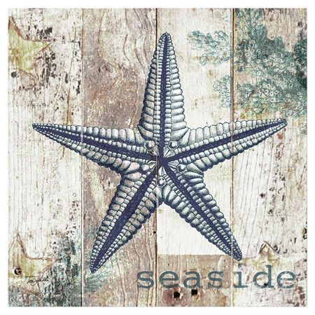 Canvas Print Of A Starfish On A Weathered Wood Background Product Wall Artconstruction Material Decorative Art Prints Canvas Wall Art Starfish Wall Decor