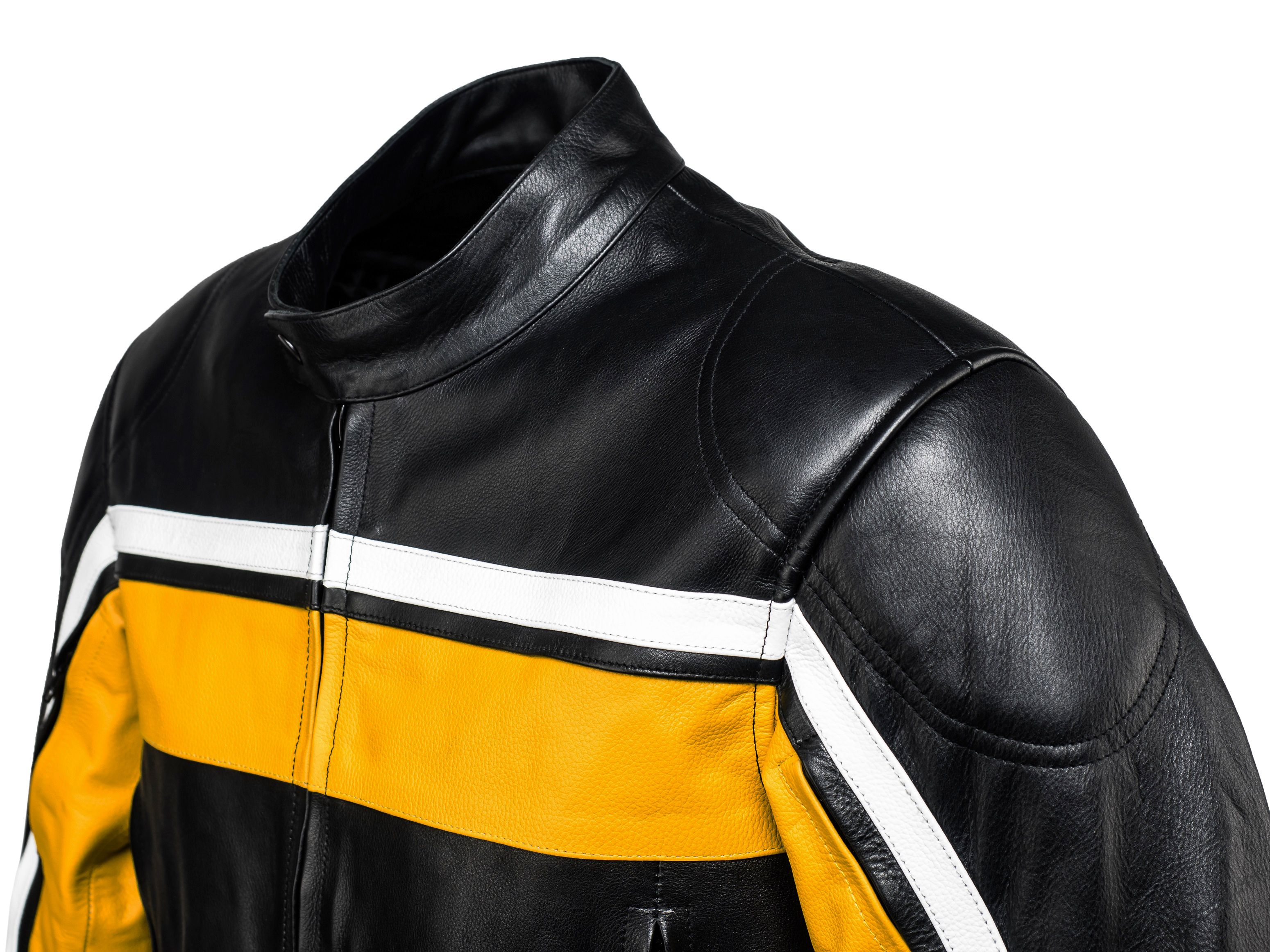 Legacy Classic Black Yellow Motorcycle Leather Jacket By Speedfireusa Motorcycle Racing Jacket Jackets Leather Motorcycle Jacket [ 2325 x 3100 Pixel ]