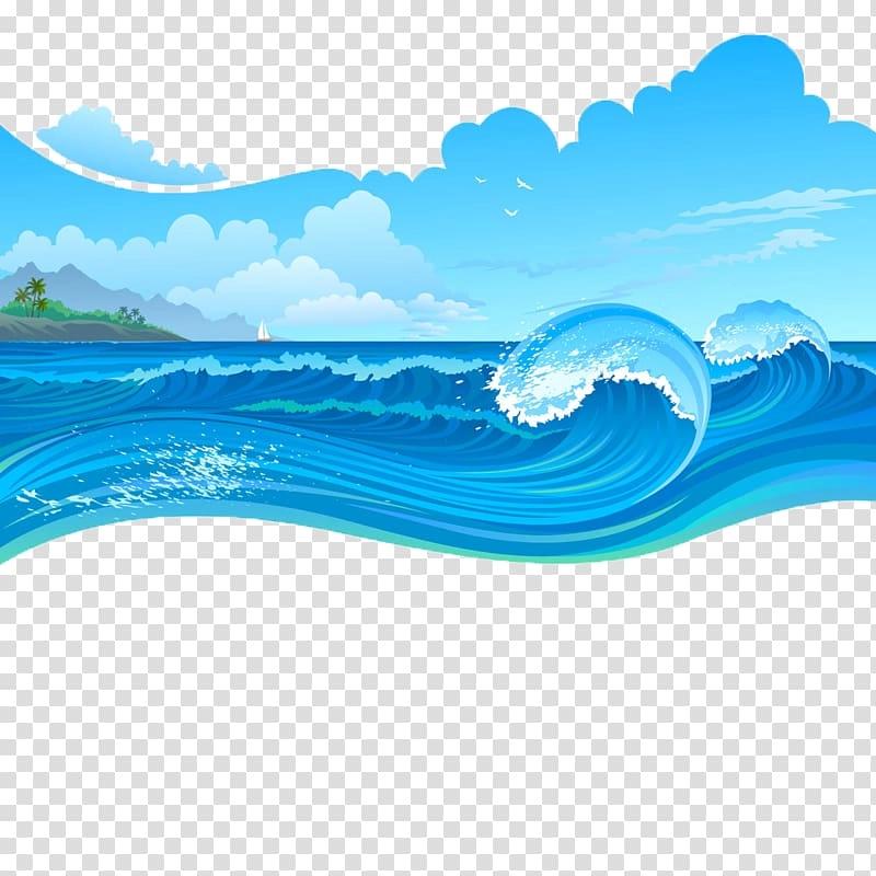 Sea Waves Graphics Art Cartoon Wave Sea Storms Transparent Waves Cartoon Sea Storm Sea Waves