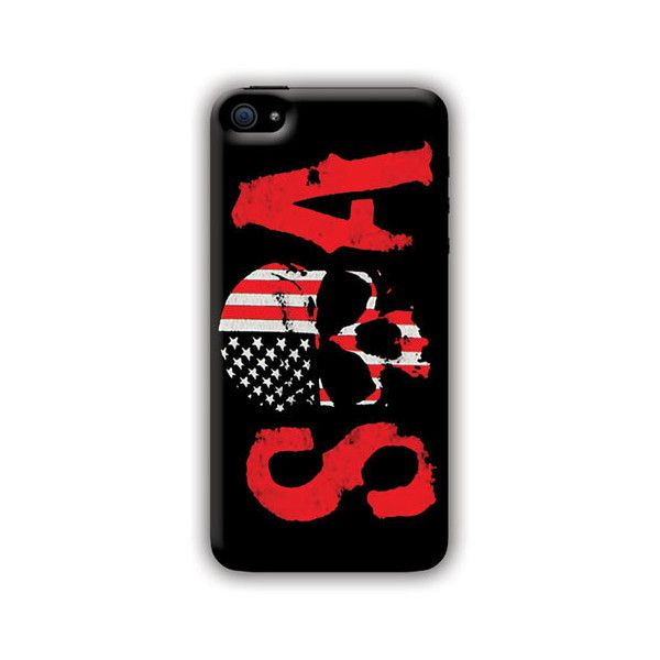 Sons Of Anarchy (SOA Skull Flag) iPhone 6 6s Phone Case ($97) ❤ liked on Polyvore featuring accessories, tech accessories and soa