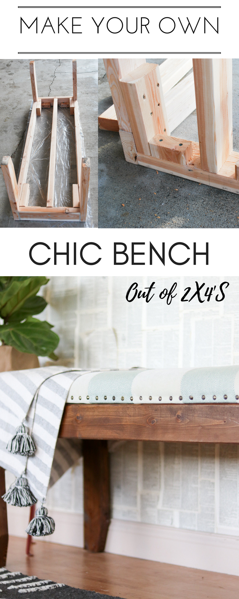 Diy Indoor Bench Seat Bench Diy Mudroom Entryway Furniture Diy Out Of 2x4 S Diy