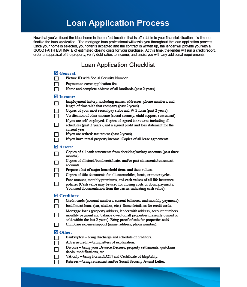 Loan Application Process  Contact Your Account Executive Amy