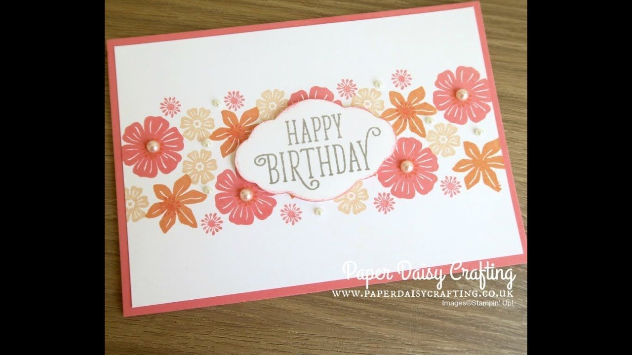 Card Making For Beginners Part 2 With Beautiful Bouquet
