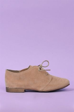 Sandy Oxfords - Taupe