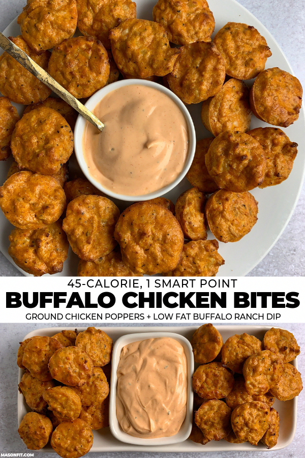 Photo of These buffalo ground chicken poppers would be