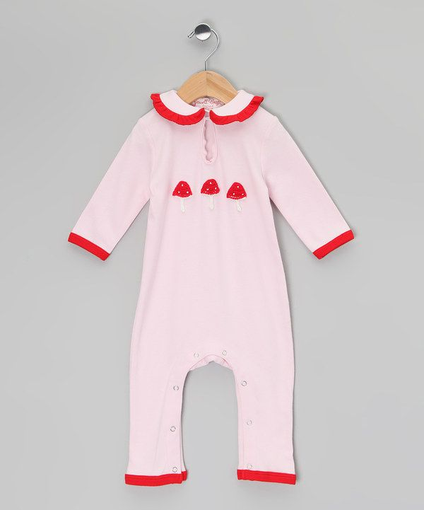Take a look at this Pink Enchanted Forest Playsuit - Infant on zulily today!