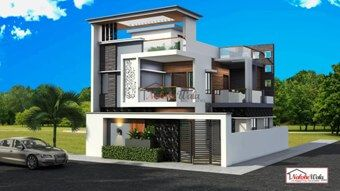 House elevation front two storey hall design modern also pin by santosh negi on exterior in rh pinterest