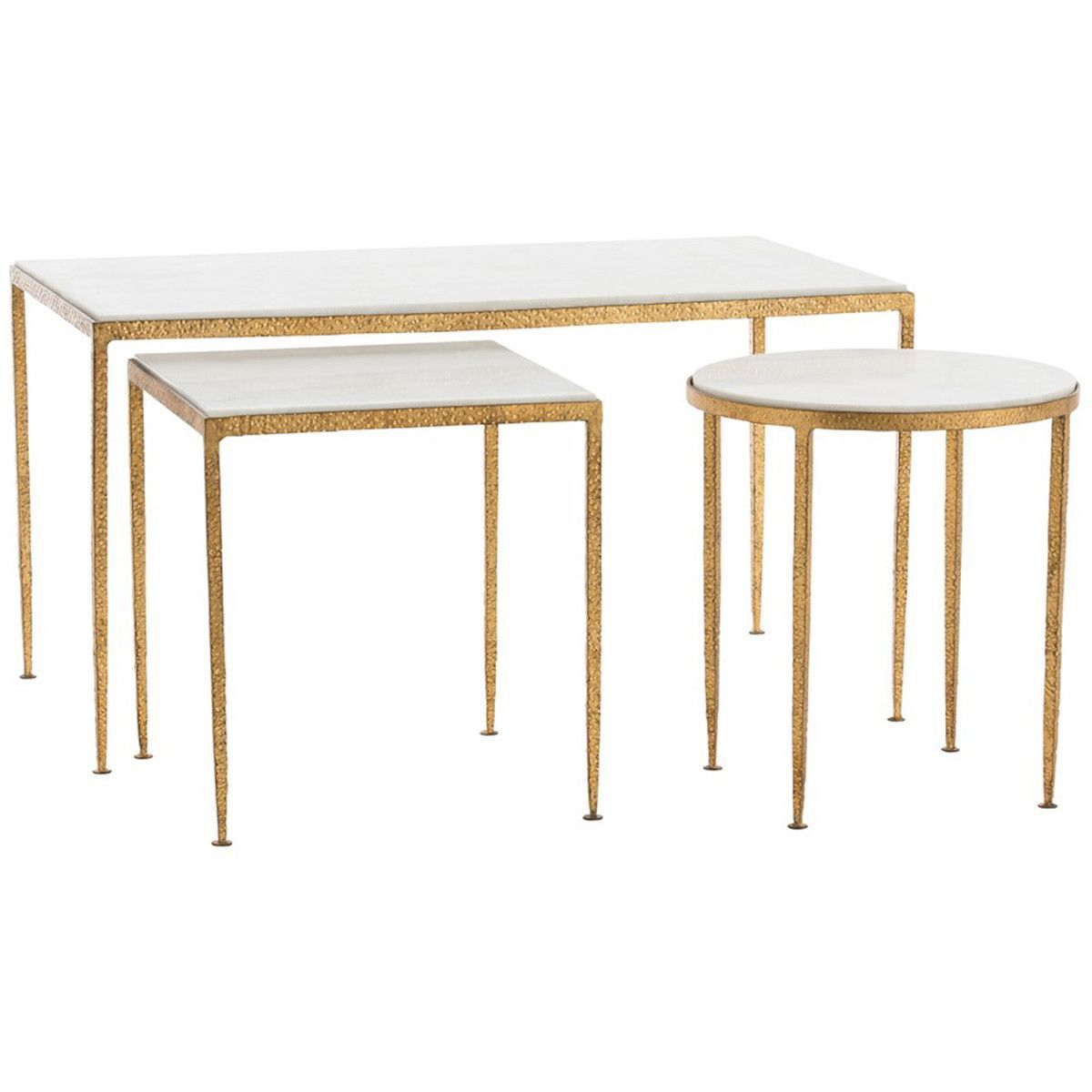 Arteriors Rosemary Coffee Table Set Of 3 Coffee Table Gold