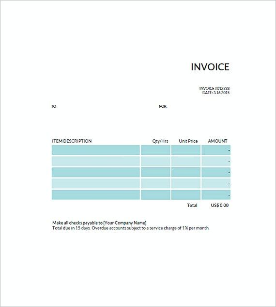 free standard invoice templates uk , Standard Invoice Template
