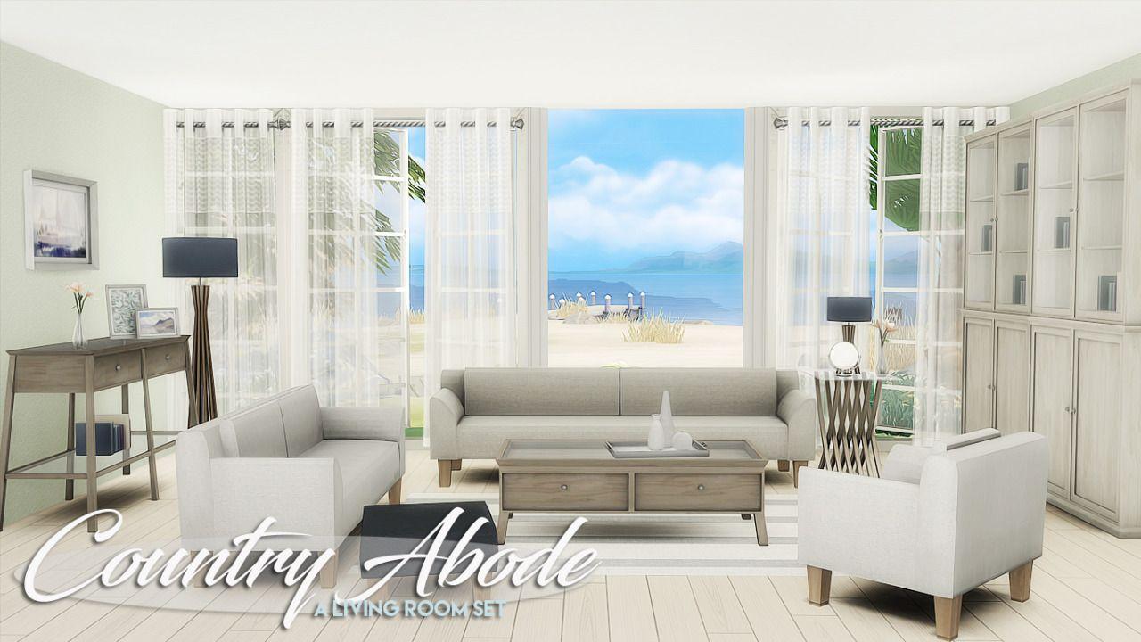Lana CC Finds - Country Abode - A livingroom set | TS4 Room Sets ...
