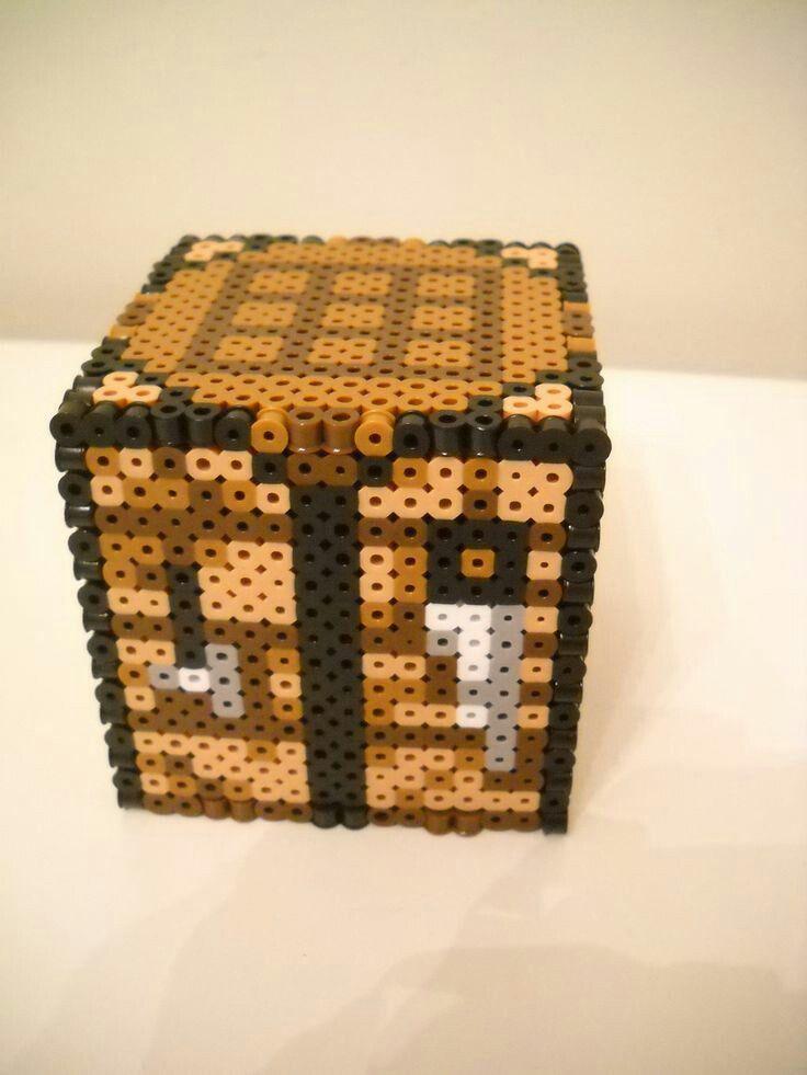 Minecraft Crafting Table Perler Hama Beads Pärlmönster Hamapärlor Pärlor