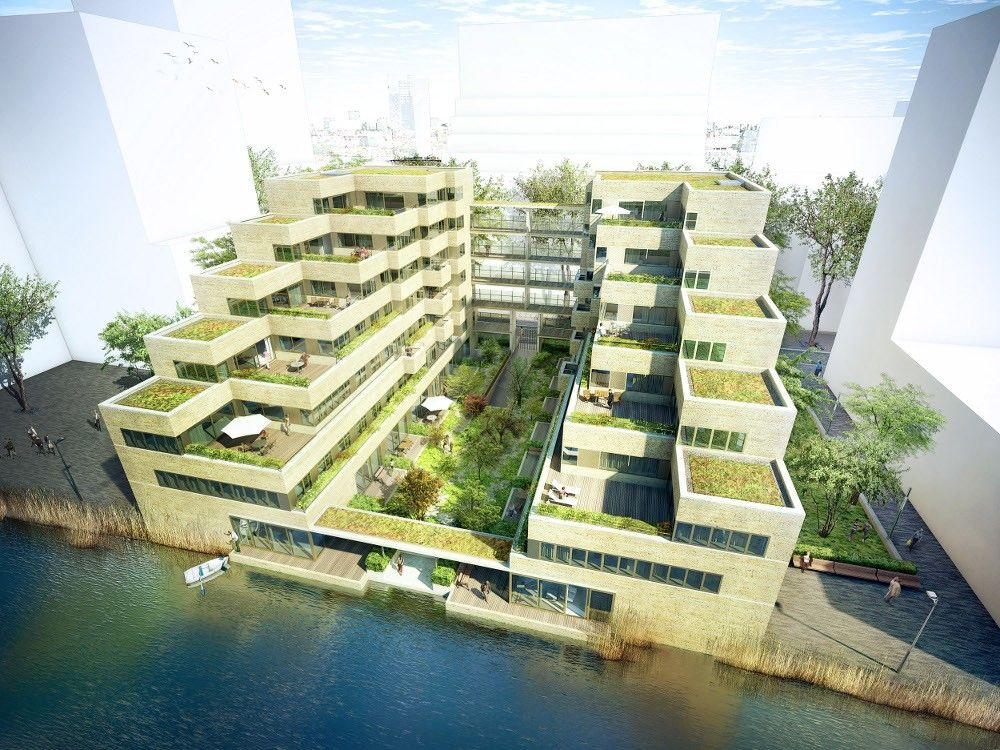 Apartment building | diederendirrix. School ArchitectureFuturistic  ArchitectureGreen ArchitectureArchitecture DesignTerrace ...