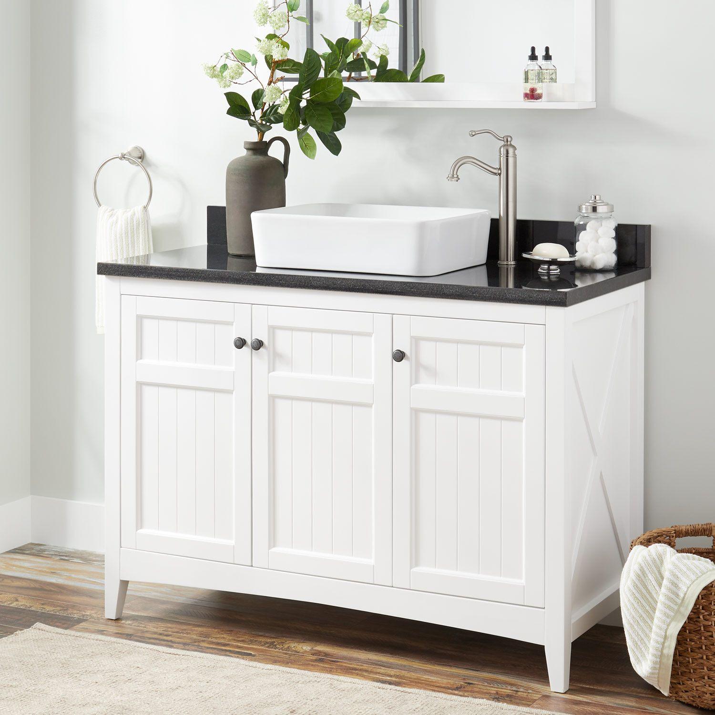 48 Alvelo Vessel Sink Vanity White Vessel Sink Vanities