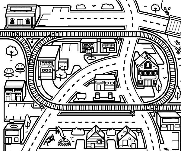City map coloring pages