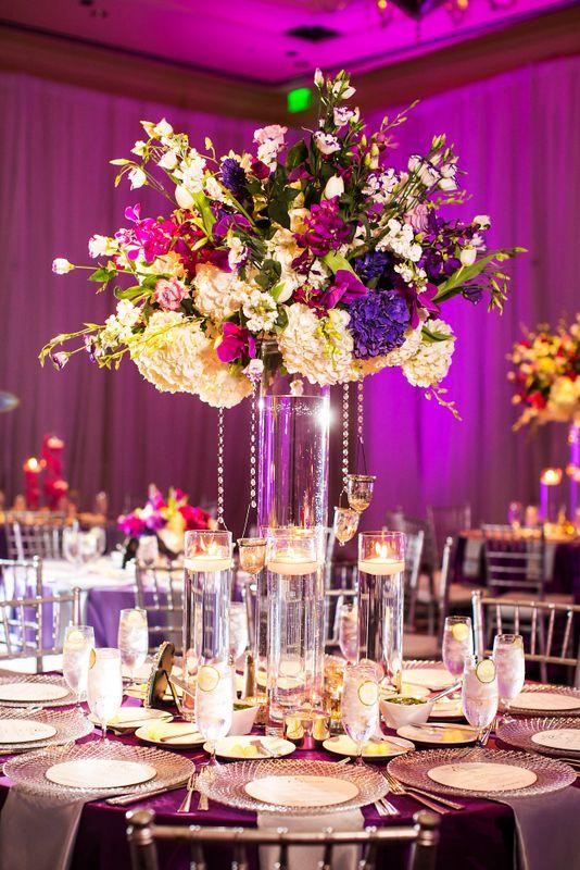 Ritz Carlton Dallas Wedding, Fuchsia & Purple Wedding www