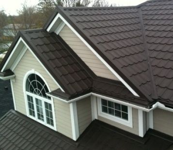 Best Amber Profile Chocolate Brown Ral 8017 Www Usametalroof Com Exterior House Remodel Brown Roof 400 x 300