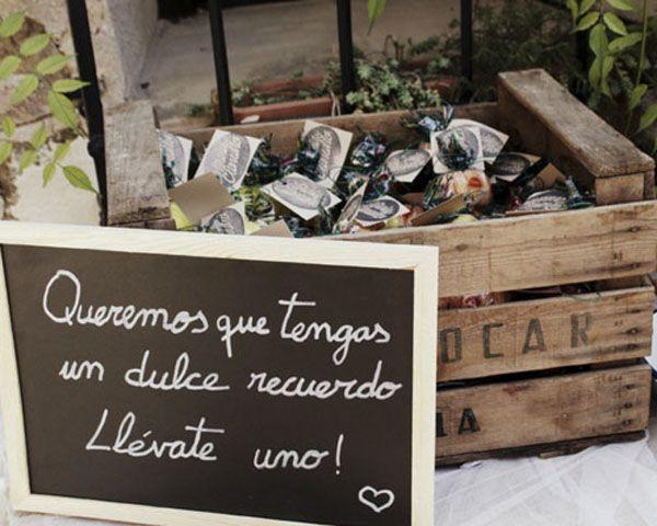 linda idea para que tus invitados se lleven un dulce recuerdo camino a casa al