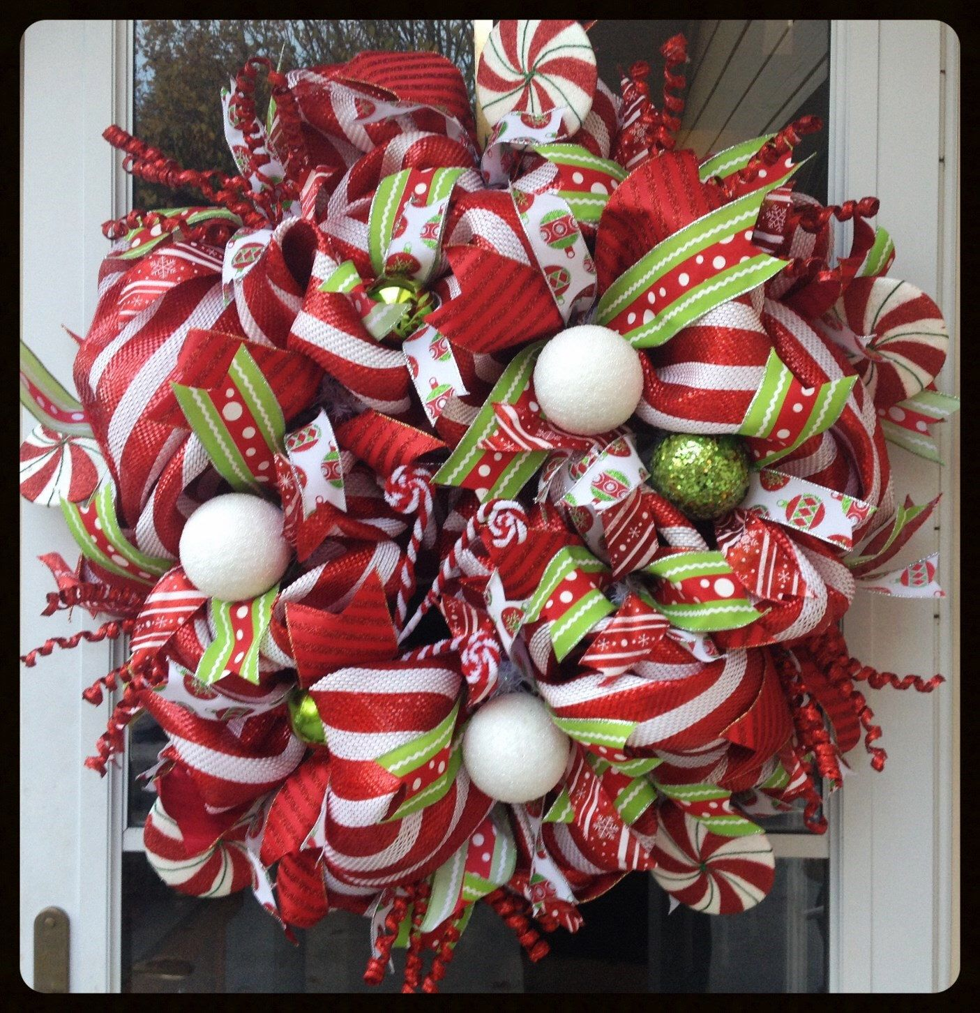 Candy Cane Lane Decorations Extra Large Red And White Candy Cane Wreath  Candy Cane Lane