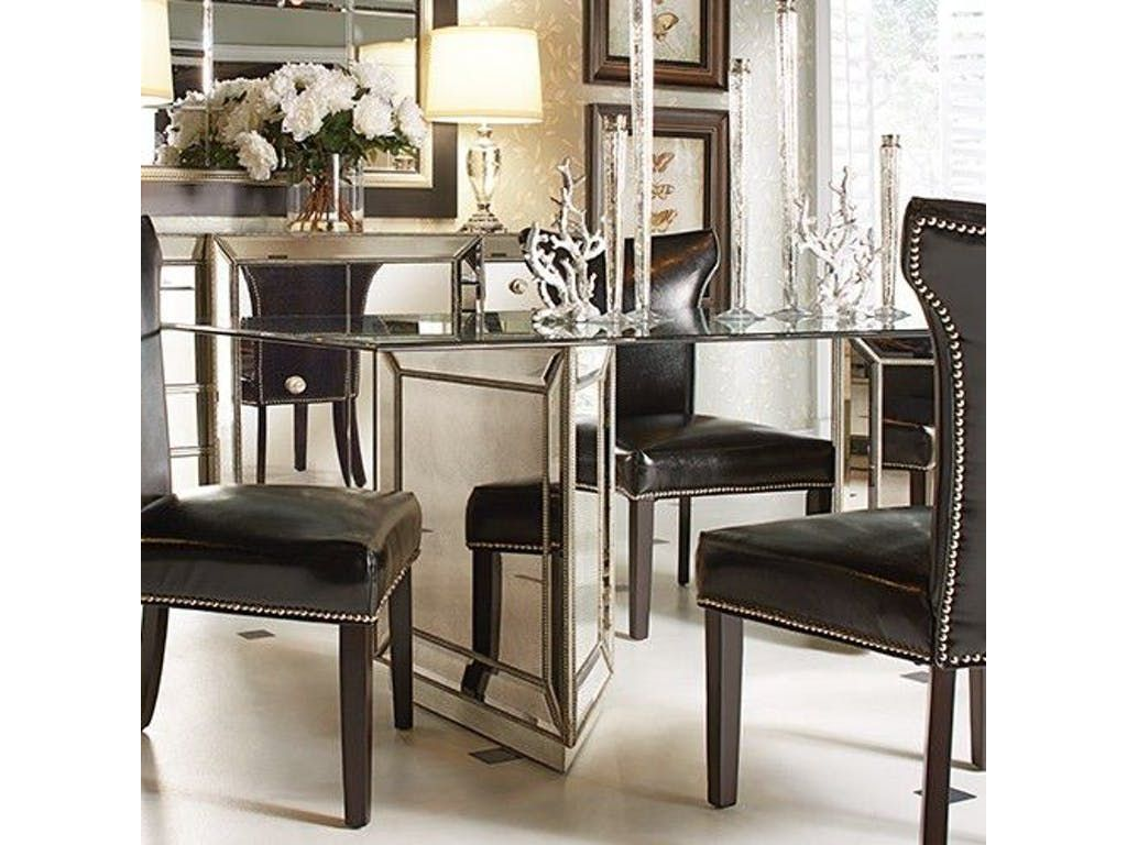 bassett mirror dining table. Bassett Mirror Company Murano Dining Table D2624-600-909 E