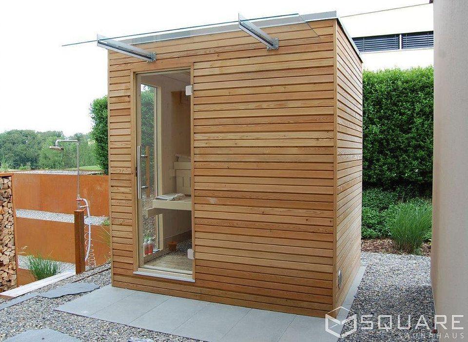 Die Edle Sauna Fur Ihren Garten Oder Ihre Dachterrasse Kompakt Und Dennoch Mit Hochstem Komfort Saunahaus Sauna Aussen Gartensauna