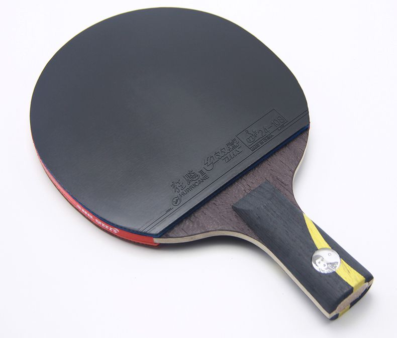 1 Pcs Top Quality Black Blade Table Tennis Bat Professional Ping Pong Racket Paddle Hurrucane Table Tennis Bats Table Tennis Ping Pong