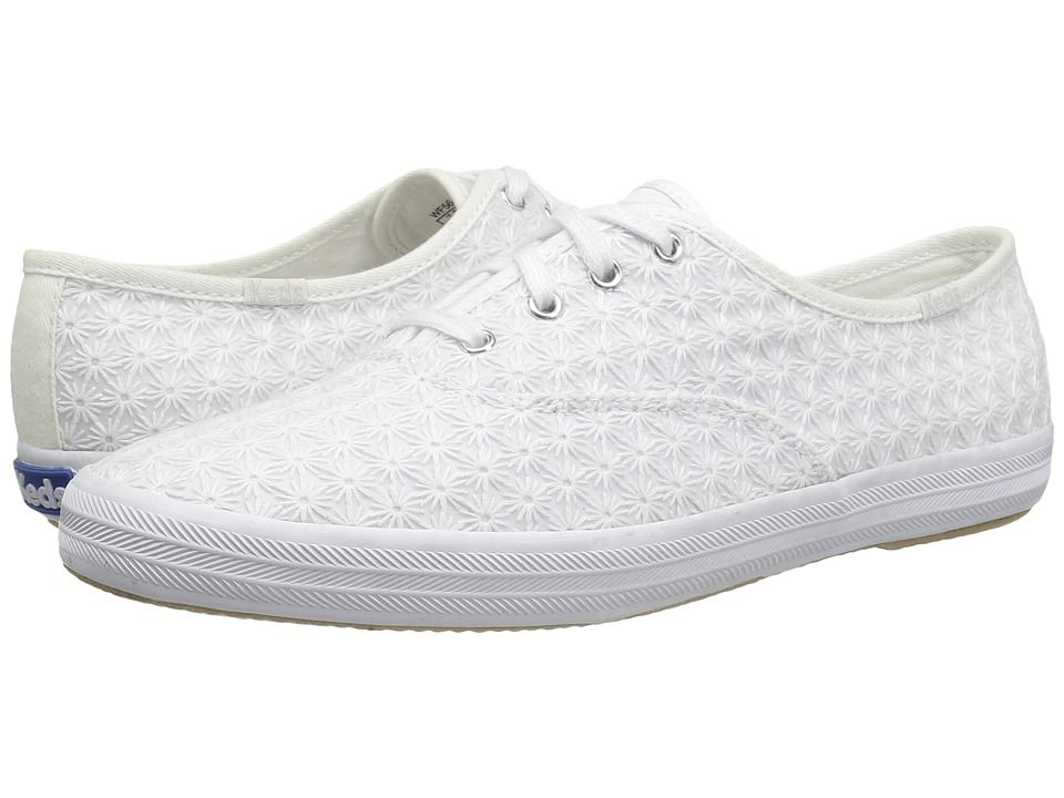 KEDS KEDS - CHAMPION MINI DAISY (WHITE) WOMEN'S LACE UP CASUAL SHOES. #