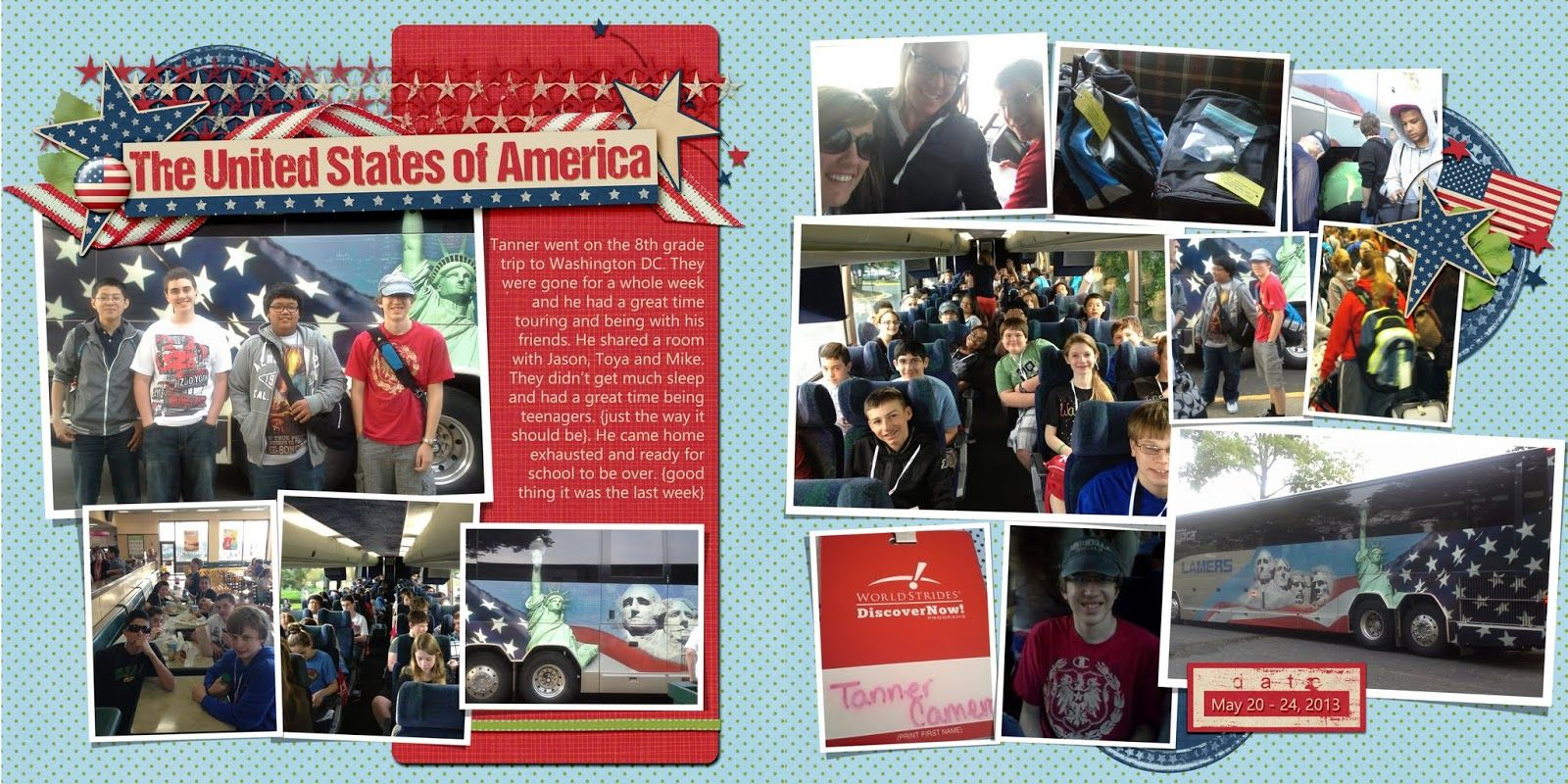 Liberty's Layouts: Washington DC - Tanner's 8th Grade Trip