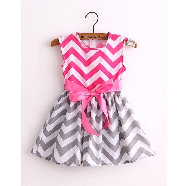 Cheveron Stripe Dress - Girls