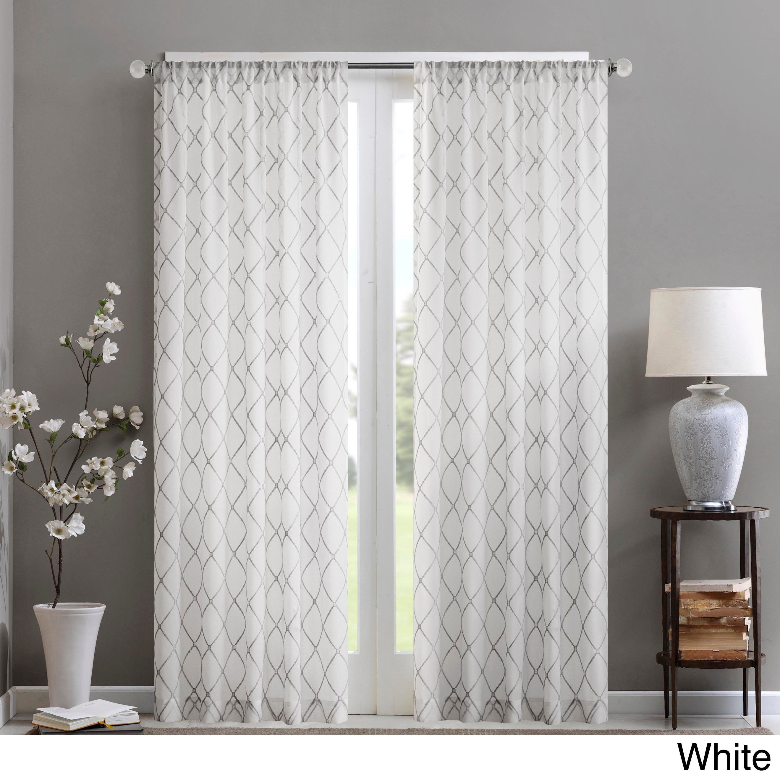 Filter The Glare For Softer Light By Placing This Sheer Madison Park Curtain Panel In A