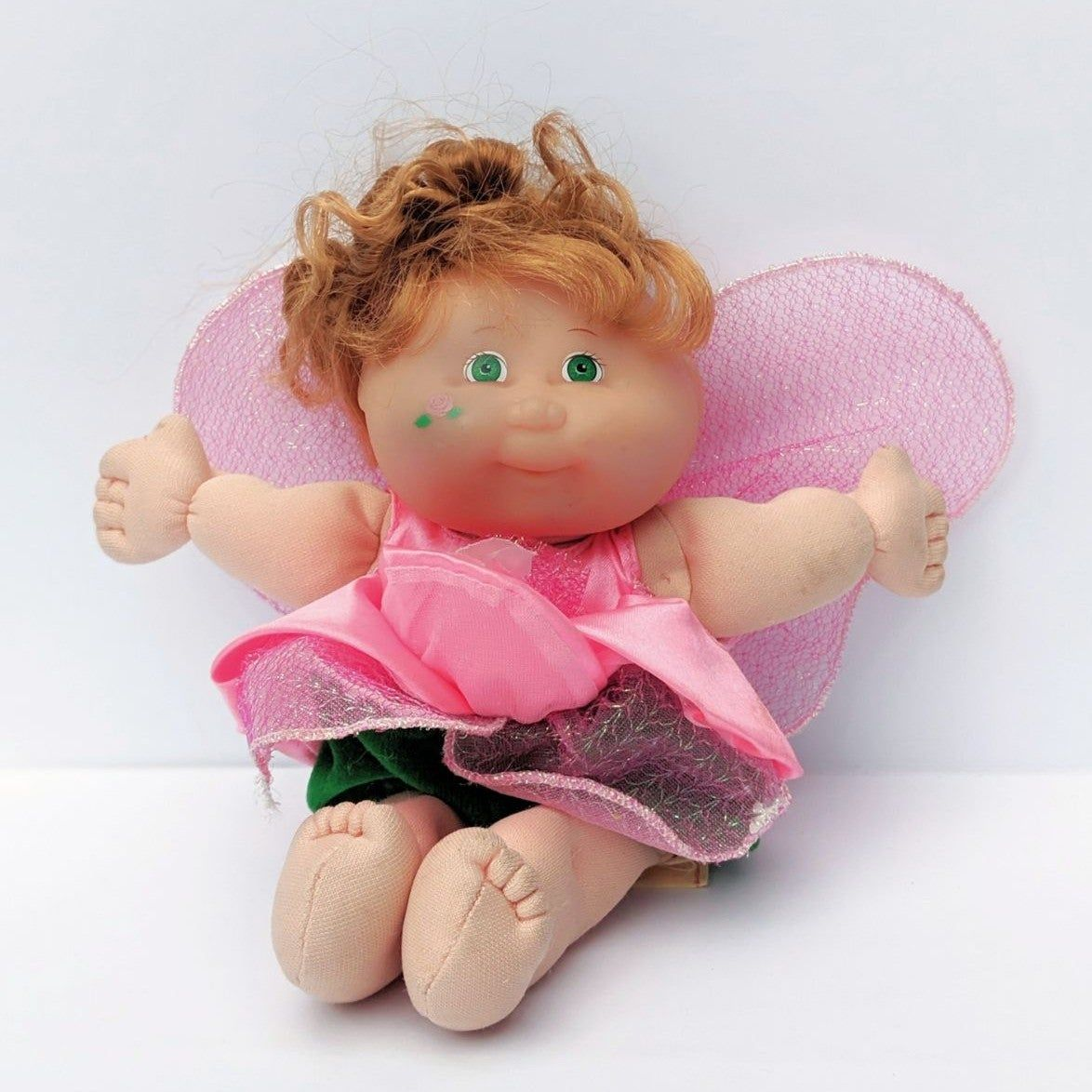Cabbage Patch Kids Pink Garden Fairy Produced In 1995 Only Flaw Is A Small Stain On The Right Side Of Cabbage Patch Kids Dolls Cabbage Patch Kids Pink Garden