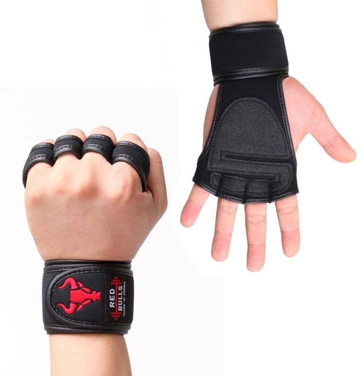Korean Sports Power Strap Weight Lifting Martial Arts Body Building Gloves New