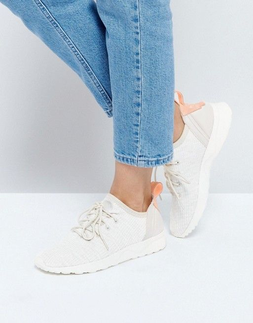 adidas Originals Beige ZX Flux Adv Virtue Sneakers | lust in