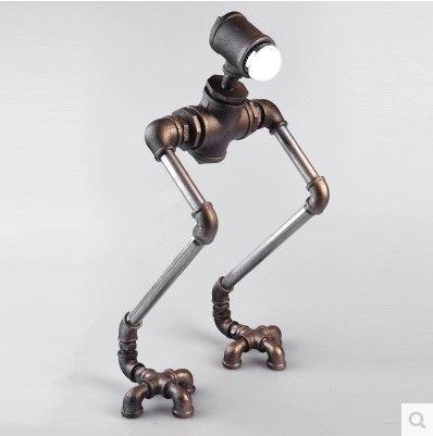 lampe robot robot vintage table de lampe pour chambre. Black Bedroom Furniture Sets. Home Design Ideas