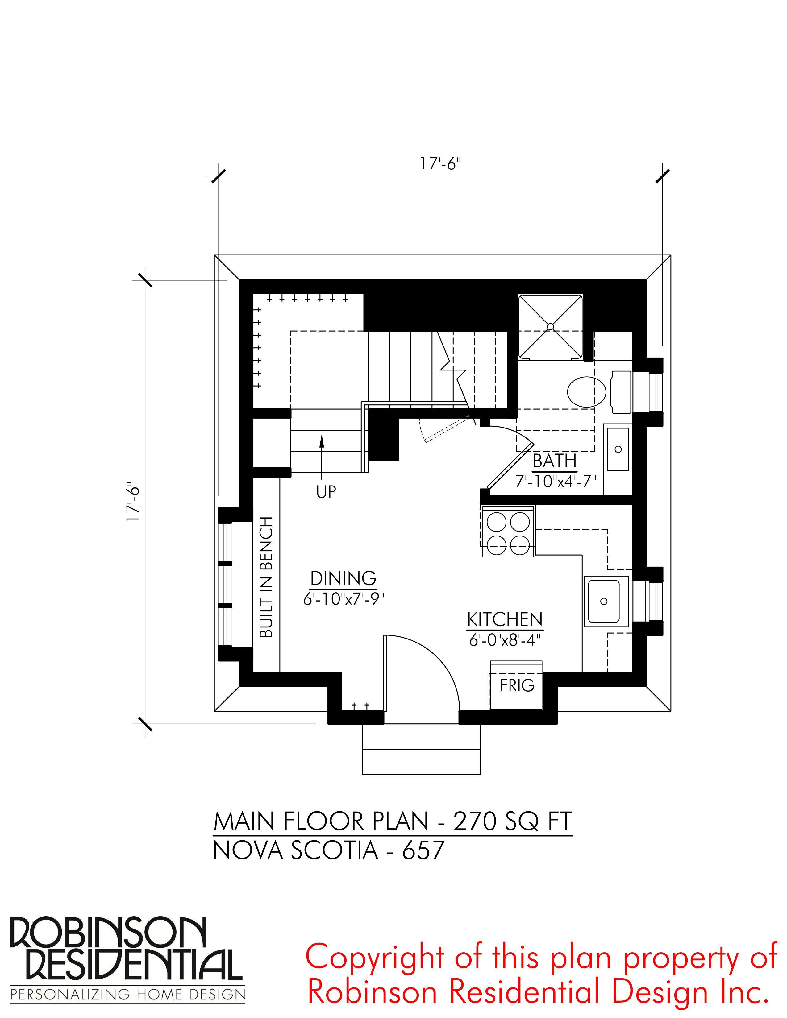 Nova Scotia 657 Robinson Plans In 2020 Small House Plans House Plans Bathroom Floor Plans